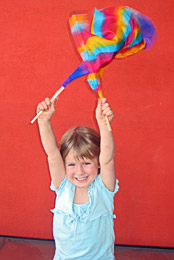 Mini-banners are enjoyed by children
