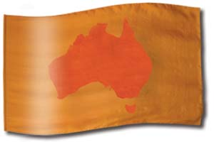 "The design ""Australia en ocres"" in hand crafted silk"